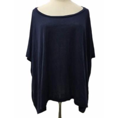 【中古】アクネ Acne Tシャツ プルオーバー ボートネック 半袖 S 紺 ネイビー レディース