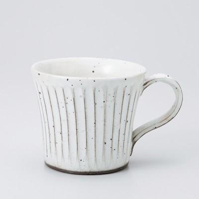 和食器 粉引ソギ目 反 マグカップ カフェ コーヒー 紅茶 珈琲 お茶 オフィス おうち 食器 陶器 おしゃれ うつわ