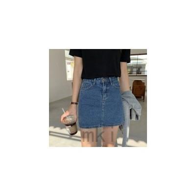 スカートレディースミニスカートデニムスカートショート丈台形スカート夏向き薄手おしゃれシンプルカジュアルAラインボトムス