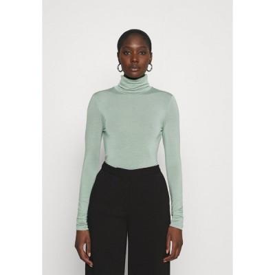 ゲタス カットソー レディース トップス SIRIN ROLLNECK - Long sleeved top - slate gray