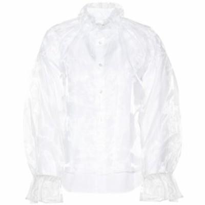 ノワール ケイ ニノミヤ Noir Kei Ninomiya レディース ブラウス・シャツ トップス Organza and poplin blouse White