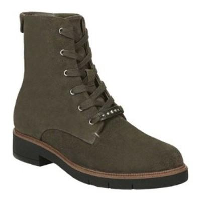 ドクターショール レディース ブーツ&レインブーツ シューズ Guild Combat Boot Olive Suede Leather