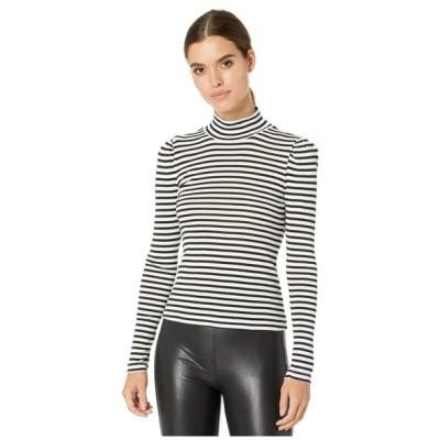 スプレンディッド Splendid レディース 長袖Tシャツ トップス Striped Long Sleeve Turtleneck Black/Off-White