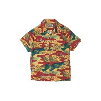 SSA20-KJ-RD-川合島合戦柄ハワイアンシャツ20-SSA20KJ-SAMURAIJEANS-サムライジーンズ-シャツ半袖