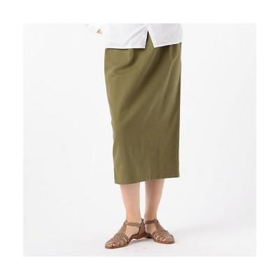 <GALERIE VIE(Women)/ギャルリー・ヴィー> ブロークンサテン Iラインスカート 55グリーン【三越伊勢丹/公式】