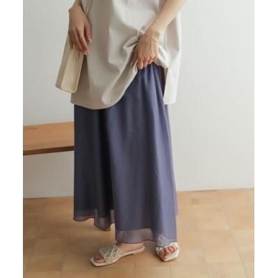 URBAN RESEARCH DOORS / コットンシルクロングスカート WOMEN スカート > スカート