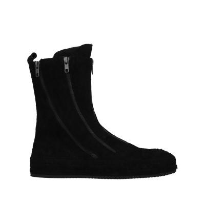 アン ドゥムルメステール ANN DEMEULEMEESTER ショートブーツ ブラック 44 革 ショートブーツ