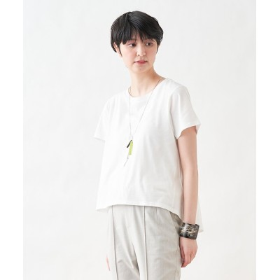 【キャラ・オ・クルス】 半袖Tシャツ レディース オフホワイト F CARA O CRUZ