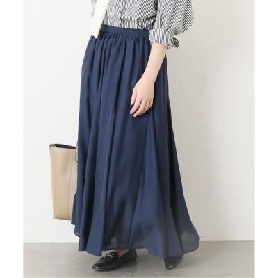 スカート スパンローン フレアースカート【手洗い可能】◆