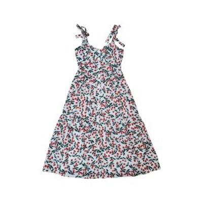 メロデイ レディース ワンピース トップス Tie Shoulder Ditsy Print Midi Dress CHERRY PRINT