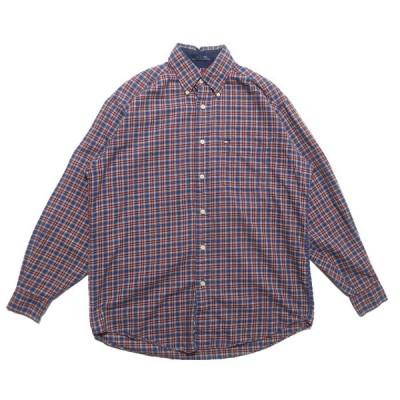 古着 トミーヒルフィガー ボタンダウン コットン チェックシャツ サイズ表記:S