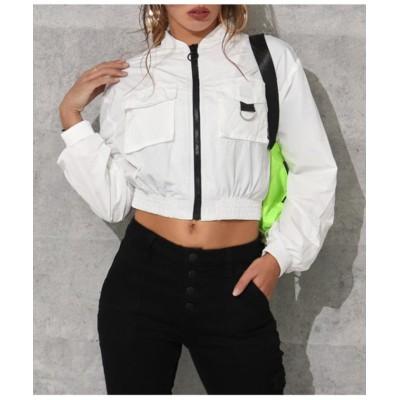 【アナップ】 リングデザインボイラージャケット レディース ホワイト L ANAP