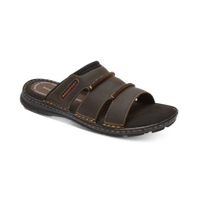 ロックポート サンダル シューズ メンズ Men's Darwyn Slide Sandals Brown Leather
