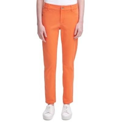 カルバンクライン レディース カジュアルパンツ ボトムス Stretch Cotton Twill Pants Ember