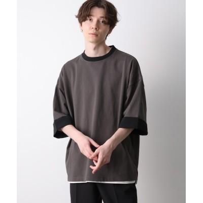 JUNRed / ロールアップワイドTEE MEN トップス > Tシャツ/カットソー