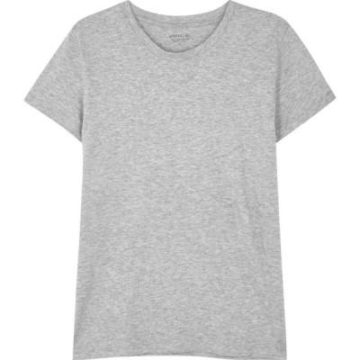 ヴィンス Vince レディース Tシャツ トップス Essential grey Pima cotton T-shirt Grey