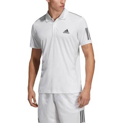 アディダス メンズ シャツ トップス adidas Men's Club 3 Stripes Tennis Polo White/Black