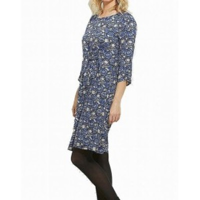 Masai  ファッション ドレス Masai NEW Blue Sapphire Womens Size XS Side-Tie Nonie Shift Dress