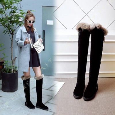 レディース 冬用ブーツ ロングブーツ 軽い スノーブーツ 防滑 歩きやすい ボア付き 中綿入り 防寒 美脚 ウィンターブーツ 厚手 通勤 通学 柔らかい 雪靴