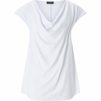 ジュームズ レイクランド James Lakeland レディース Tシャツ トップス Cowl Neck T-Shirt White