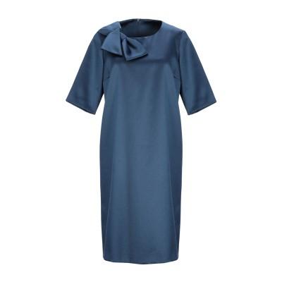GIGUE ミニワンピース&ドレス ブルーグレー 36 ポリエステル 70% / コットン 26% / ポリウレタン 4% ミニワンピース&ドレス