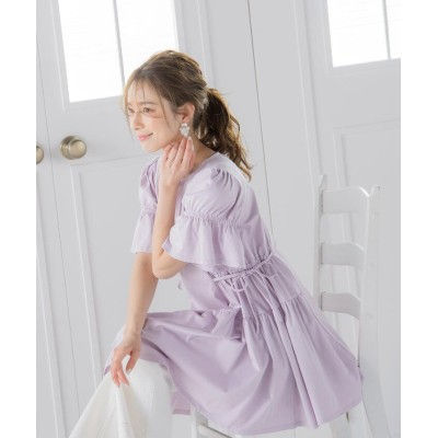 (QUEENS COURT/クイーンズ コート)サイドリボンフリルカットソー《接触冷感/洗濯機で洗える》/レディース ピンク