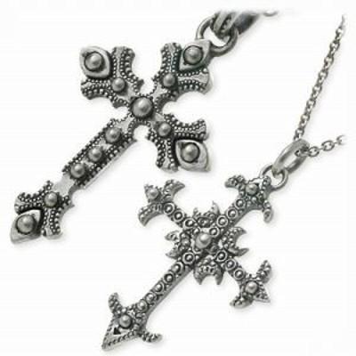 ペアネックレス 大人 ブランド シンプル ネックレス ペア BIGBLACKMARIA シルバー クロス 十字架 誕生日プレゼント ギフト カップル 記念