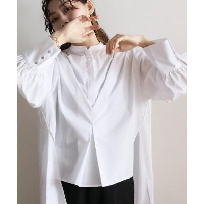 シャツ ブラウス 【Lant Kalte】デザインタックロングシャツ