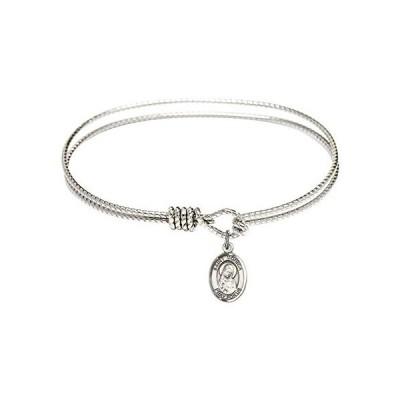 Bonyak Jewelry ブレスレット ジュエリー B4207RH-9079SS 7 1/4 inch Oval Eye Hook Bangle Bracelet w/ S