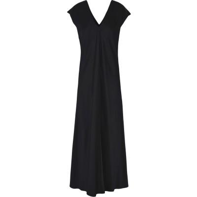 アリジ ALYSI ロングワンピース&ドレス ブラック 46 アセテート 75% / レーヨン 25% ロングワンピース&ドレス