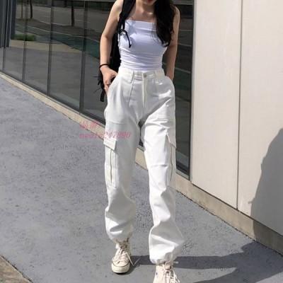 ボカーゴパンツ スポーティ ヒップホップ ダンス 衣装 韓国ファッション 個性的 原宿系 ストリート風 服 パンツ レディース