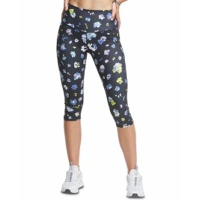 チャンピオン レディース カジュアルパンツ ボトムス Women's Printed Cropped Leggings Organic Floral Black