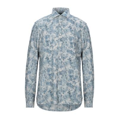 XACUS シャツ ブルー 41 コットン 100% シャツ