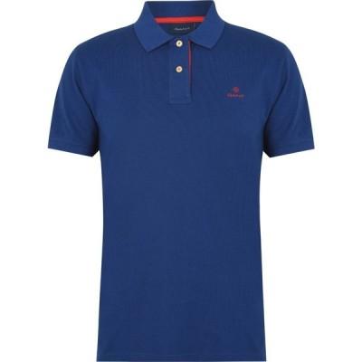 ガント Gant メンズ ポロシャツ トップス Contrast Rugger Polo Shirt Blue