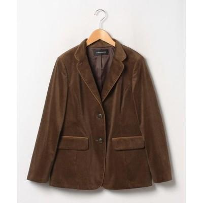 LAPINE ROUGE/ラピーヌ ルージュ インポート素材 フレンチコールテーラードジャケット ブラウン 44