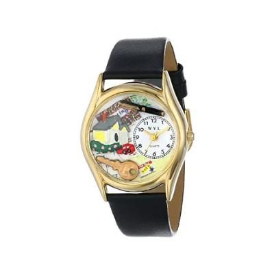 【新品・送料無料】Whimsical Watches Women's S0630002 Realtor Black Leather Watch