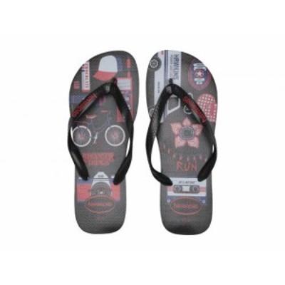 Havaianas ハワイアナス メンズ 男性用 シューズ 靴 サンダル Top Stranger Things Sandal Black【送料無料】