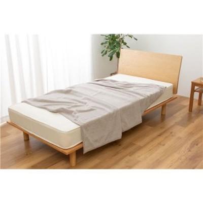 さらっと快適 ぬけにくいパイル 天然素材 (綿100%) のタオルケット シングル (約140×200cm) グレー