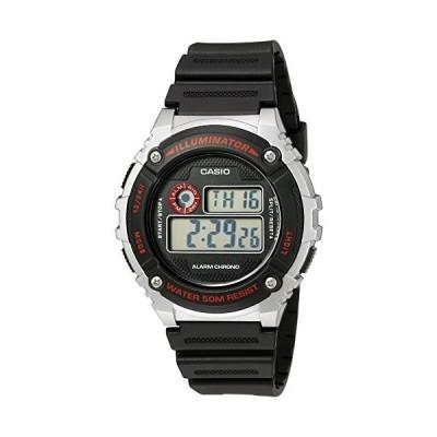 腕時計 カシオ メンズ W-216H-1CVCF Casio Men's 'Illuminator' Quartz Resin Watch, Color:Black (Model: W