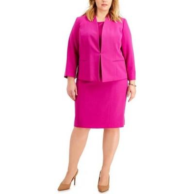 ル スーツ Le Suit レディース スーツ・ジャケット 大きいサイズ アウター Plus Size Kiss-Front Dress Suit Orchid