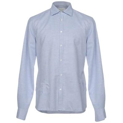 アリーニ AGLINI シャツ アジュールブルー 43 コットン 76% / 麻 24% シャツ