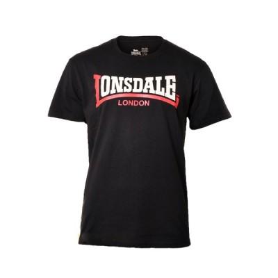 LONSDALE ロンズデール / ツートーンロゴプリントTシャツ Black -送料無料-