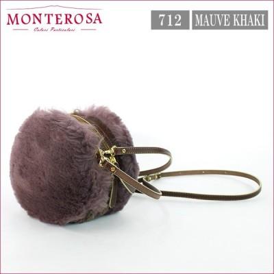 ムートンバッグ モンテローザ ムク マカロン ムートン&ニット 2WAY MONTEROSA muku MACARON NO.712 モーブカーキ