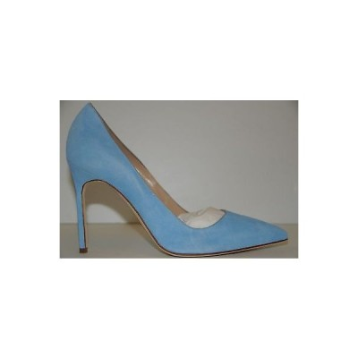 ハイヒール マノロブラニク Manolo Blahnik BB 105 Pastel Powder Blue Suede Shoes Heels Pumps 39.5 41.5