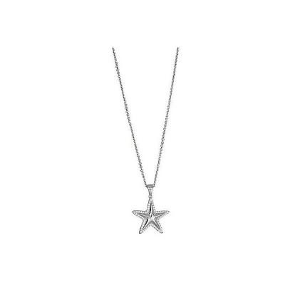ジュエリー ファッション ネックレス Decadence Sterling Silver Micropave Cubic Zirconia Starfish Pendant