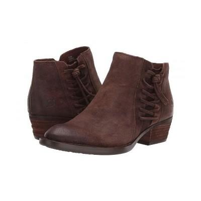 Born ボーン レディース 女性用 シューズ 靴 ブーツ アンクルブーツ ショート Bessie - Dark Brown Distressed