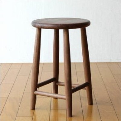 スツール 天然木 無垢材 ウォルナット 木製スツール 丸椅子 キッチンスツール ナチュラルウッドのスツール ウォールナット