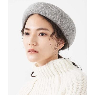 【collex】 《ウール混》ニットベレー帽 レディース グレー F collex