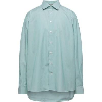イートン ETON メンズ シャツ トップス Striped Shirt Green