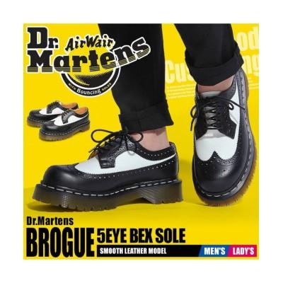 【ドクターマーチン】 3989 5アイ ブローグシューズ ベックスソール ユニセックス ブラック UK6 DR.MARTENS